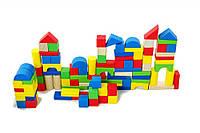 Деревянный конструктор сортер Woody 100 элементов в коробке