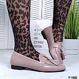 Стильные женские туфли лоферы с кисточками, фото 6