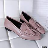 Стильные женские туфли лоферы с кисточками, фото 4