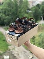 Мужские сандали в стиле Bonis, кожа, черные *** 40 (26,3 см)