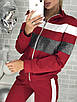 Женский спортивный костюм на змейке, трикотаж двухнитка, размеры  42. 44, 46, 48, фото 5
