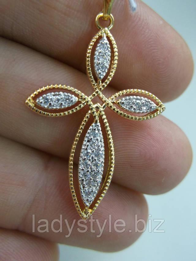 купить золотой крестик украшения подарок нательный крест