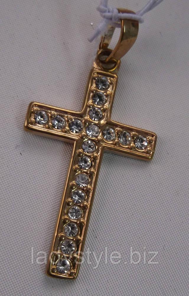 позолоченный серебряный крест кулон купить