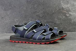 Мужские сандали в стиле Nike, синие 41 (27,5 см)