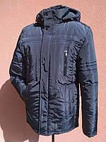 Мужская зимняя куртка с фигурной строчкой, темно-синяя, розмір 58, фото 1
