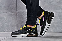 Женские кроссовки в стиле Nike Air 270, текстиль, пена, черные с желтым 36 (23 см)
