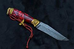 """Нож ручной работы - подарок любимому """"Амур"""" (Angel of love), дамасск, фото 3"""