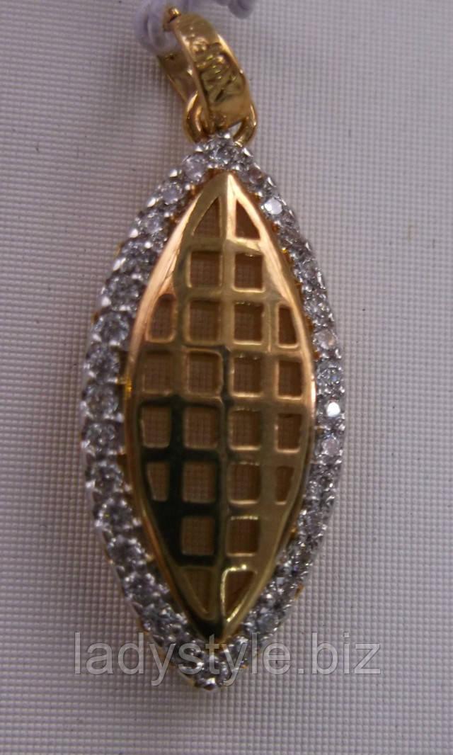 купить золотую подвеску кулон позолоченные украшения
