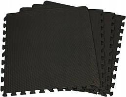 Защитный коврик SportVida Mat Puzzle 10 мм SV-HK0176 Black