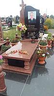Елітні памятники для поліцейського на могилу із червоного граніту