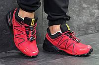 Мужские кроссовки в стиле Salomon Speedcross 3 красные 41 (26,4 см)