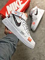 Мужские кроссовки в стиле Nike Air Force 1 LV8 High, натуральная кожа, полиуретан, белые 43 (27,5 см)