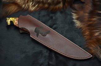"""Нож ручной работы """"Crazy horse"""", N690, фото 3"""