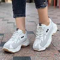 Женские кроссовки стильные на толстой подошве (Код: Б1529а)