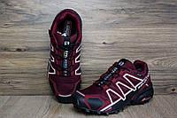 Мужские кроссовки в стиле Salomon GoreTex бордовые 41 (26 см)