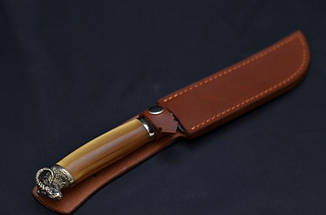 """Кухонный нож ручной работы из дамасской стали """"Руно"""", фото 2"""