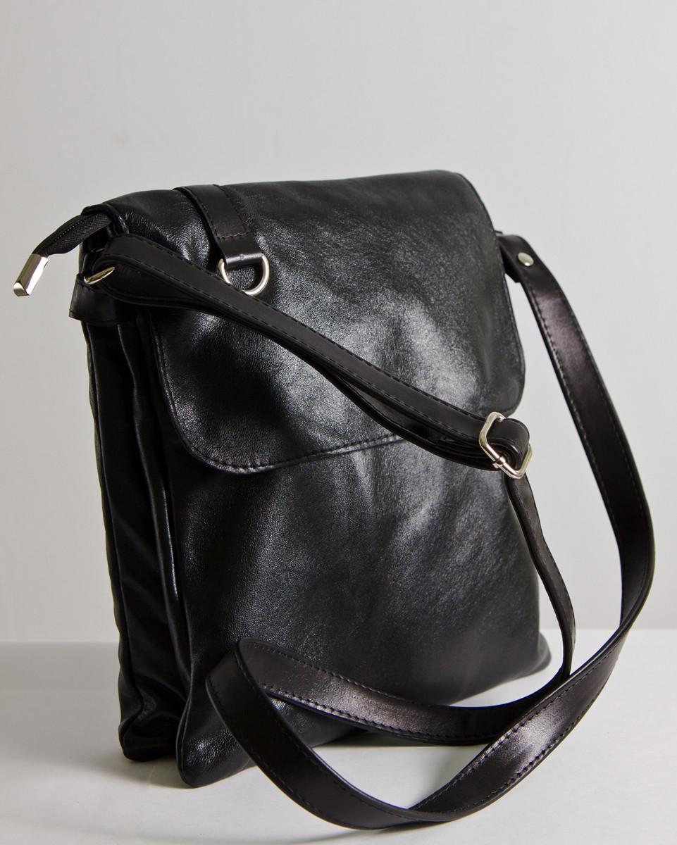 Женская сумка кожаная 08 черная 01080101