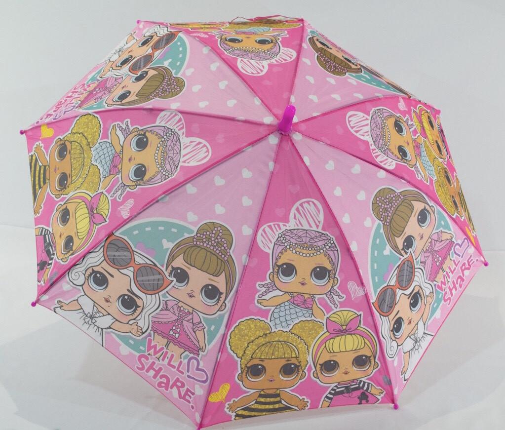 Детский зонт трость для девочек LoL