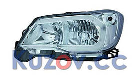 Фара передняя Subaru Forester SJ '13-15 левая ксенон (Depo) D4R+HB3+WY21W+LED