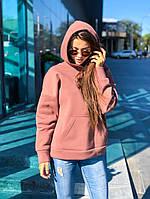 Худи толстовка женская базовая стильная теплая с капюшоном разные цвета 2Ssmil432