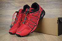 Мужские кроссовки в стиле Salomon Speedcross, красные 41 (26 см)
