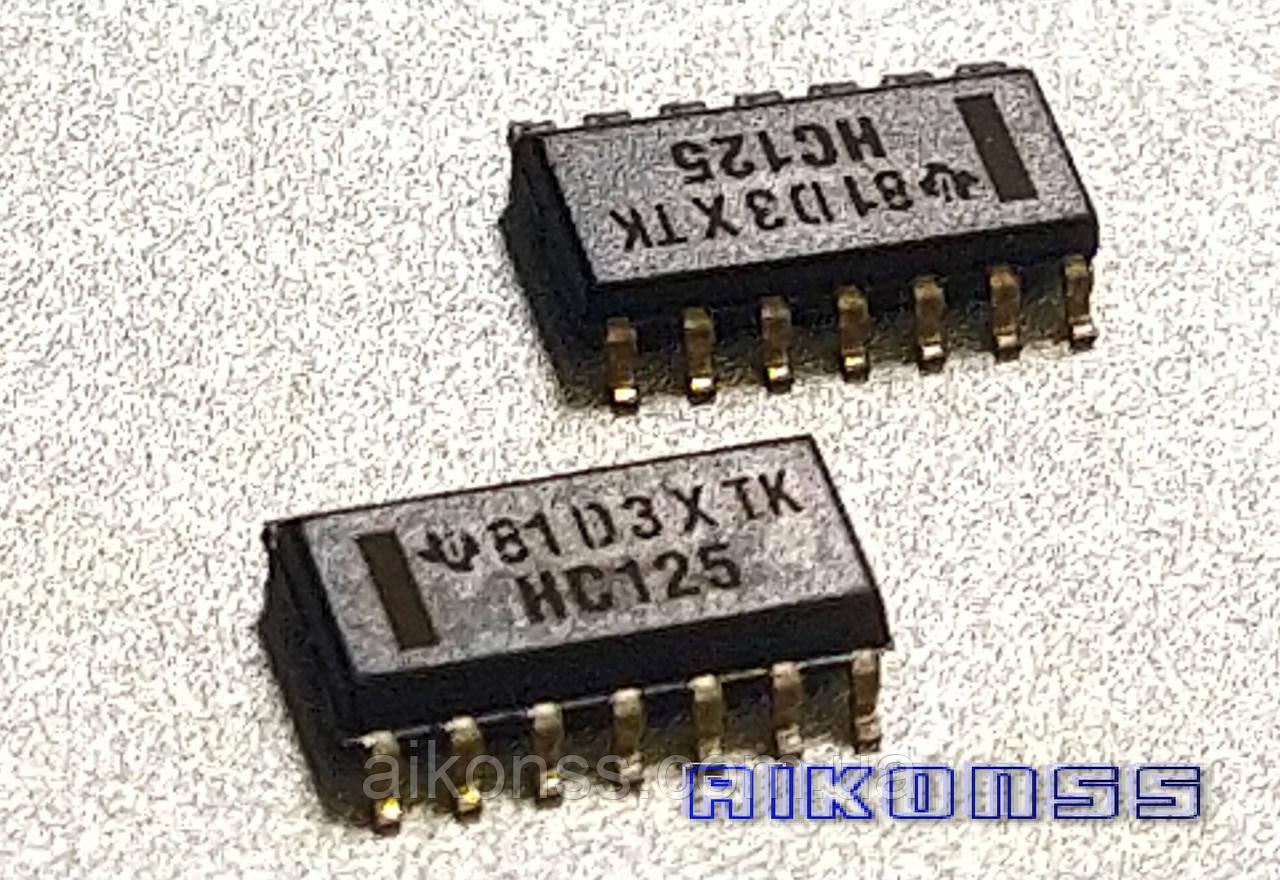 10 штук . HC125 TEXAS SN74HC125DR для CARPROG логіка . Malaysia . Оригінал .