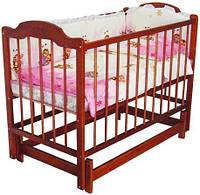 Baby Sleep кроватка (Victoria Star) вишня шарнир, фото 1