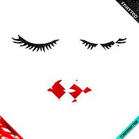 Аппликации на подвязки Реснички с губами