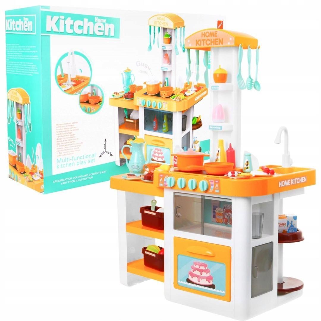 Интерактивная большая кухня Kitchen с посудой, продуктами, водой, звуком и светом