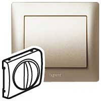 Лицевая панель Выключателя/переключателя механизмов управления вентиляцией Титан Legrand Galea Life (771457)