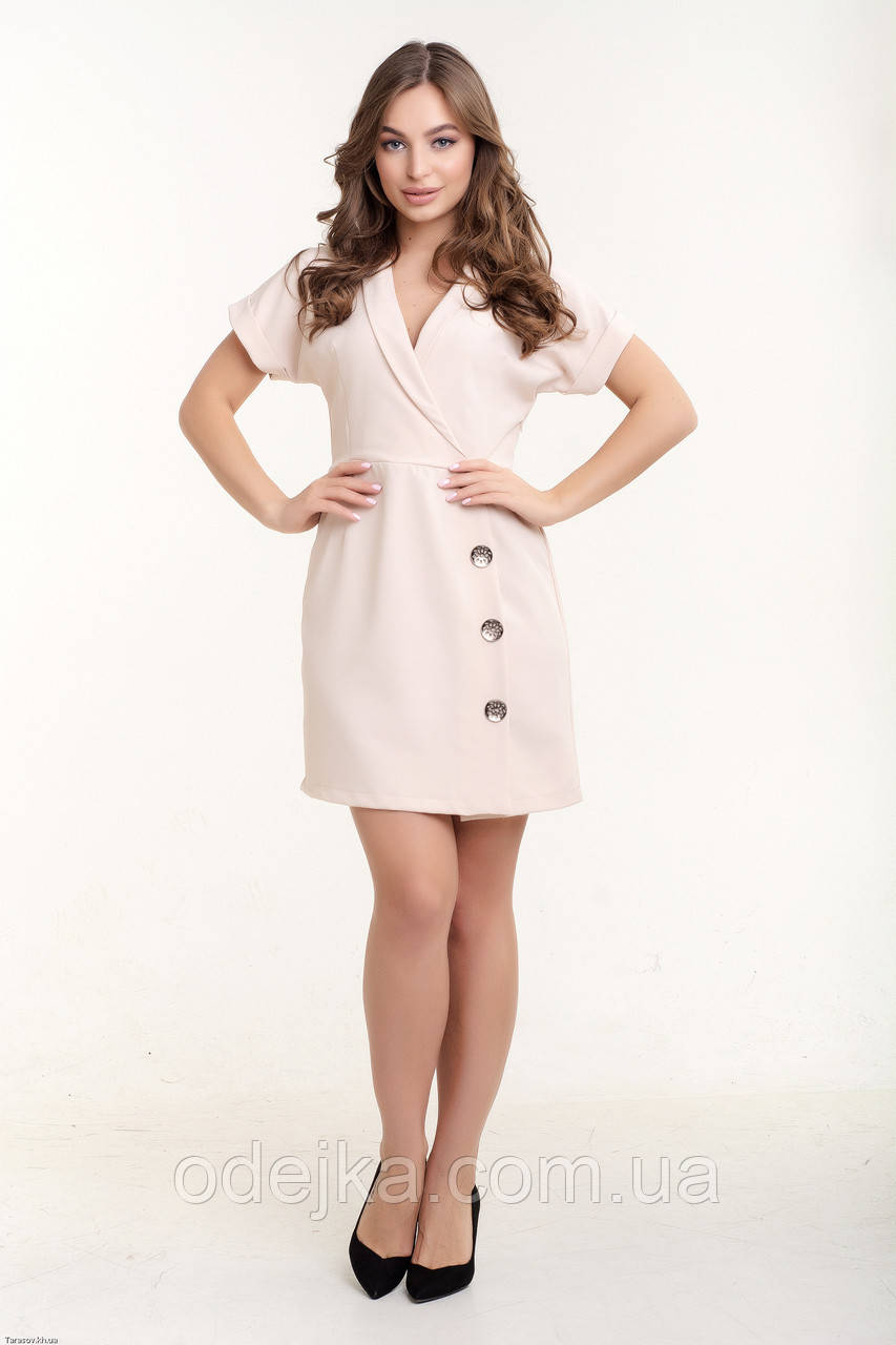 Платье K&ML 518 бежевый 46