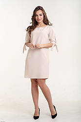 Платье K&ML 488 бежевый 44