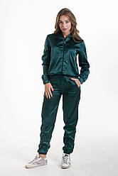Спортивний костюм K&ML 461 зелений 42 - 44