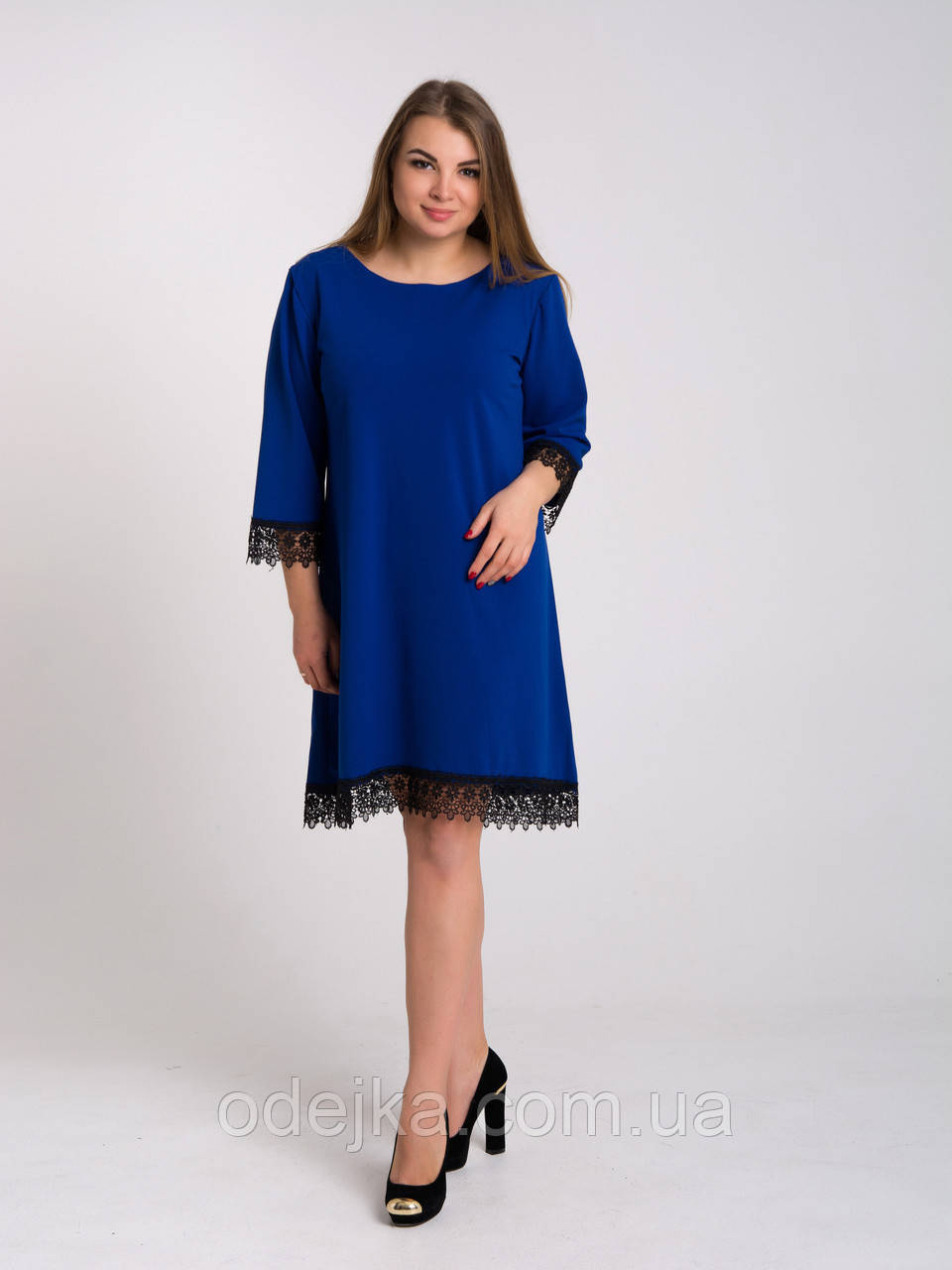 Платье K&ML 433 синий 52