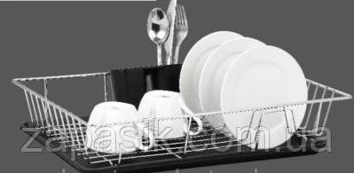 Одноуровневая Хромированная Сушилка Для Посуды Металл ZURRICHBERG ZBP 7110