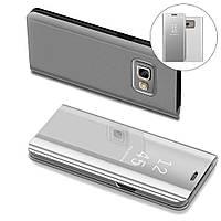 Чехол Mirror для Samsung Galaxy A7 2017 A720 книжка зеркальный Silver