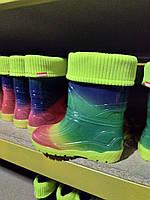 Детские резиновые сапоги Alisa Line радуга