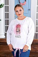 """Батник женский молодежный с фото-принтом, размеры 42-62 """"ODFIT"""" купить недорого от прямого поставщика"""