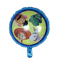Двухсторонний фольгированный круглый шар с рисунком история игрушек 45 см