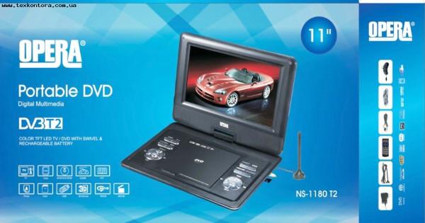 Портативный ДВД с Т2 тюнером OP-1180