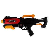 Детский Автомат 518А 7 Toys, в чёрном цвете, пульки, игрушка для мальчика