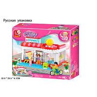 Детский Конструктор SLUBAN M38-B0529R Розовая мечта 228 дет, в разобр. кор.33*28,5*6,7 см