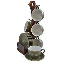 Набор чайный 12 пр на деревянной подставке 24-269-027 TM Krauff
