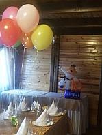 Вариант оформления зала шарами на 10 лет