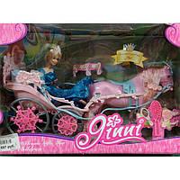 Игрушечная карета с лошадью и куклой 83063