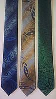 Элегантный узкий галстук, натуральный шелк высокого качества.