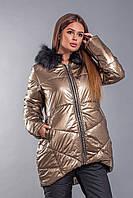 Женский костюм с асимметричной курткой