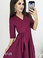 Платье с запахом на груди вечернее, 00128 (Бордовый), Размер 44 (M), фото 3