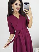 Платье с запахом на груди вечернее, 00128 (Бордовый), Размер 44 (M), фото 4
