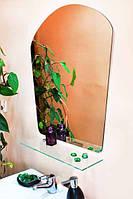 Зеркало настенное с полкой арт.69